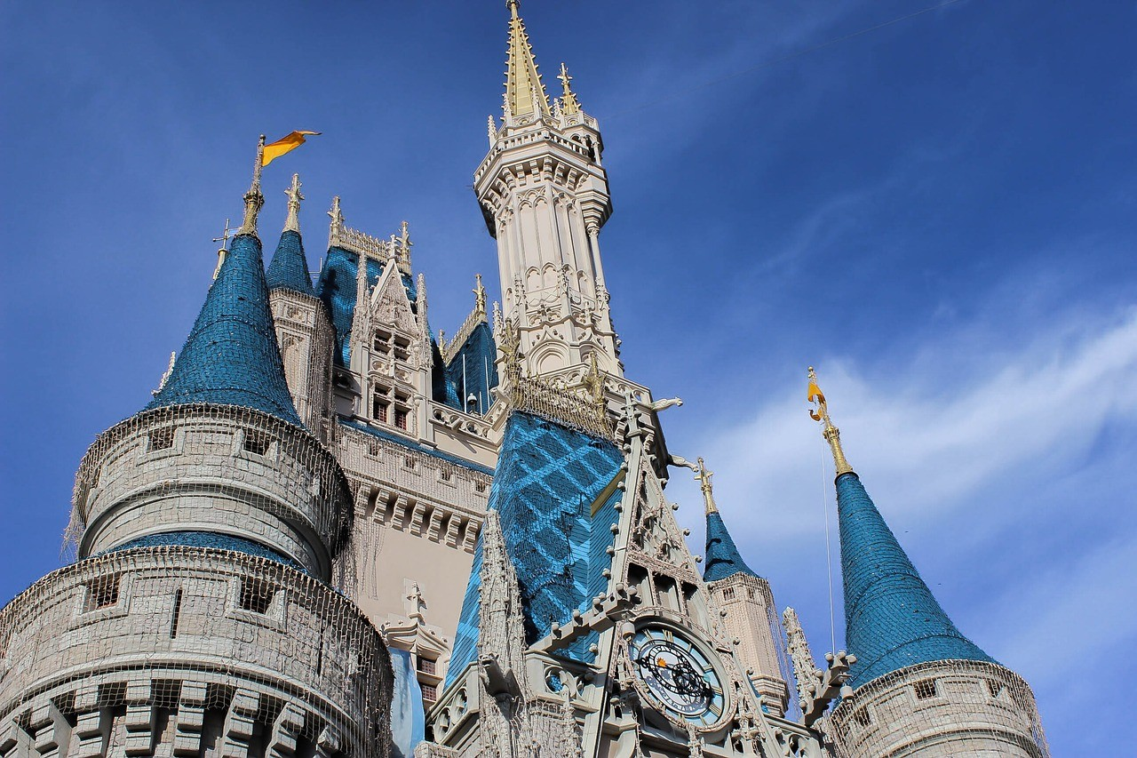 cinderella castle close up
