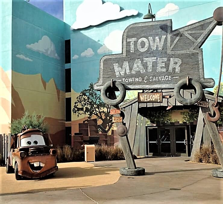 Mater in front of Art of Animation Resort