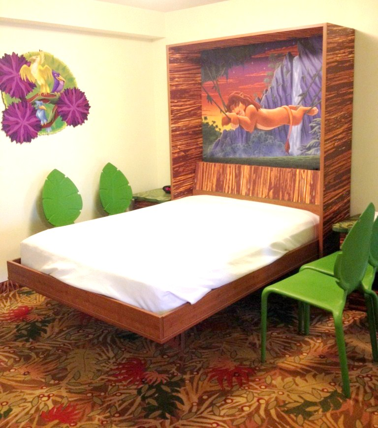 Bed with SImba Headboard in the Lion King Family Suite at Disney's Art of Animation Resort