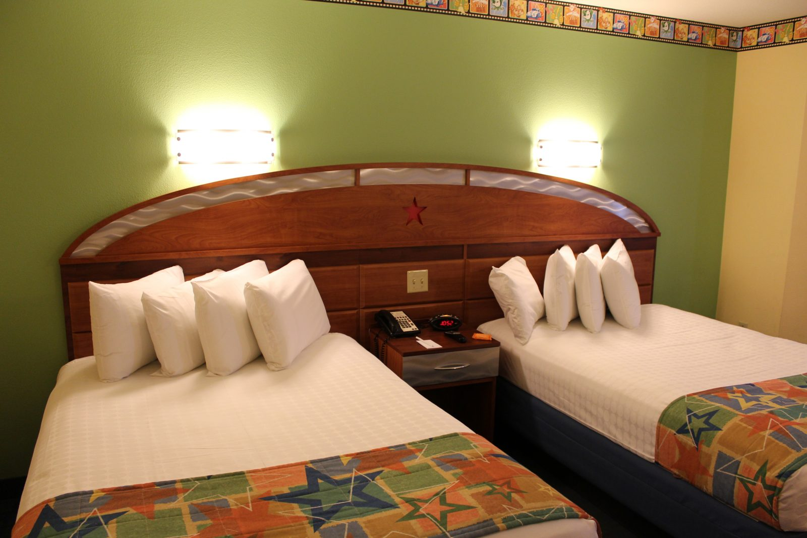 two beds in a room at Disney's All-Star Movies Resort