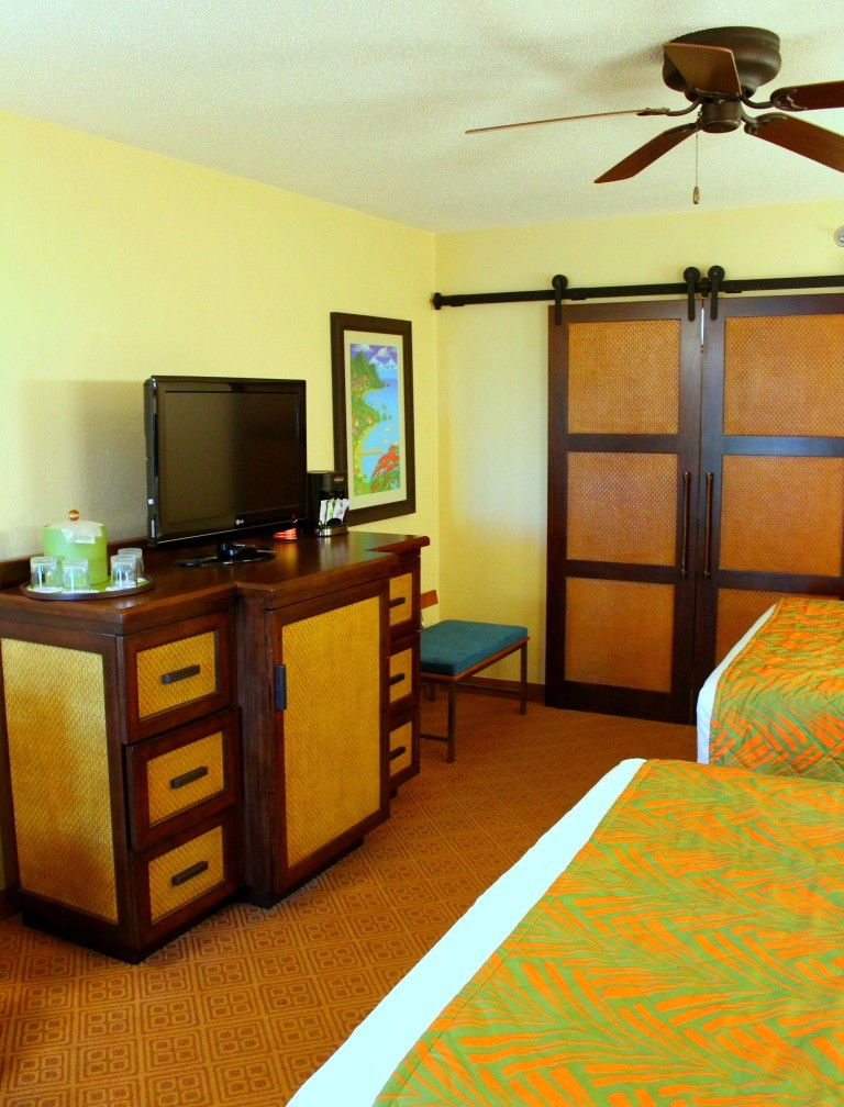 Television in a Walt Disney World Caribbean Beach Resort Room