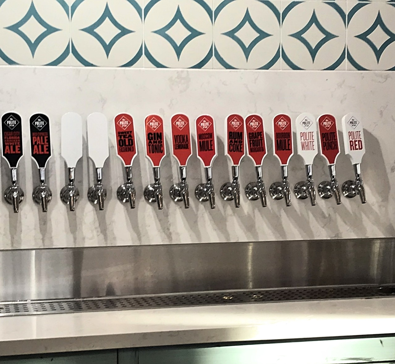 14 different beers on tap