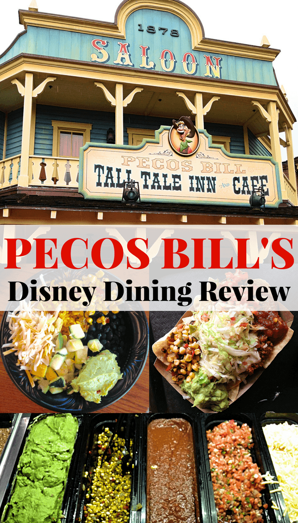 Pecos Bill's Disney Dining Review pinterest image