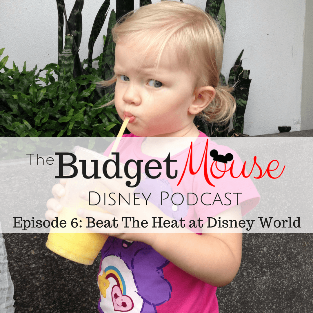 budget mouse disney podcast image with little girl drinking a cold drink