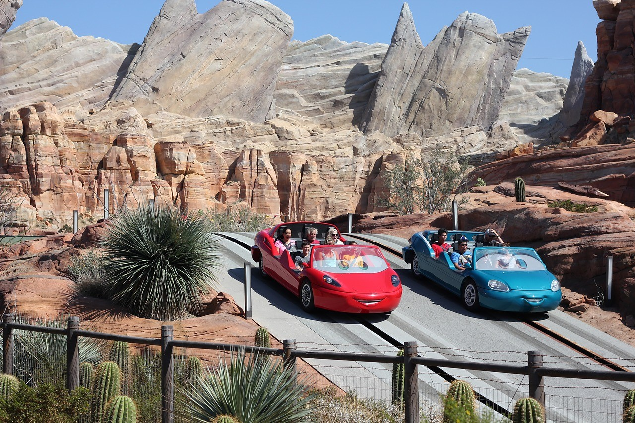 Radiator springs racers ride in disneyland