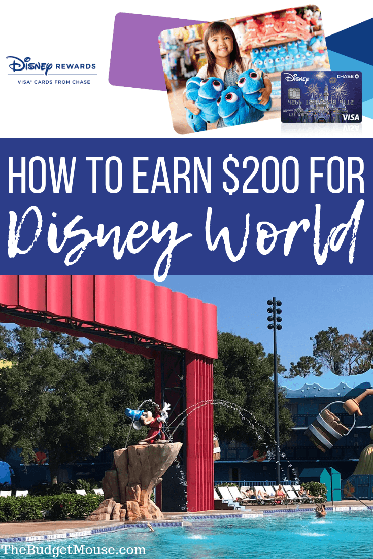 How to earn $200 for disney world pinterest image