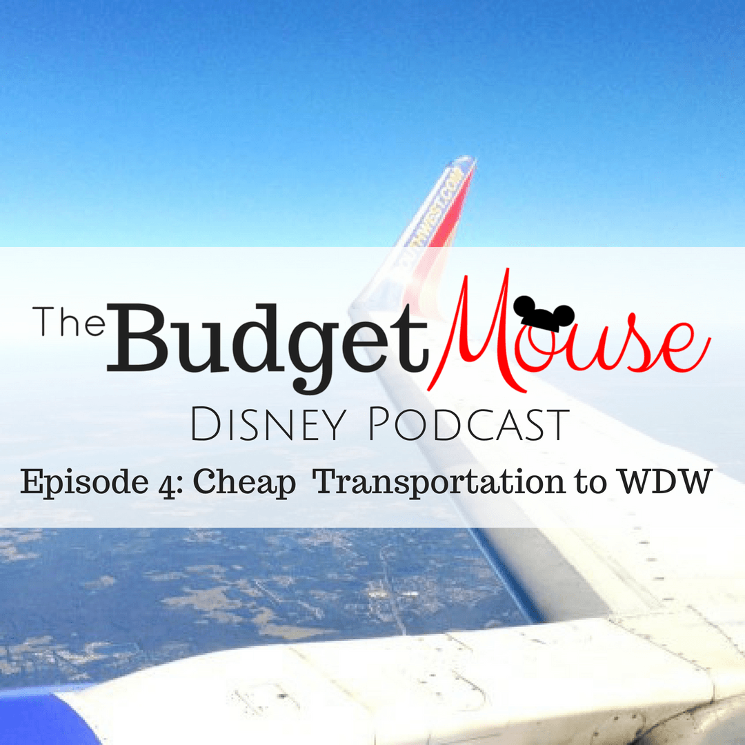 budget mouse disney podcast image with plane in the background