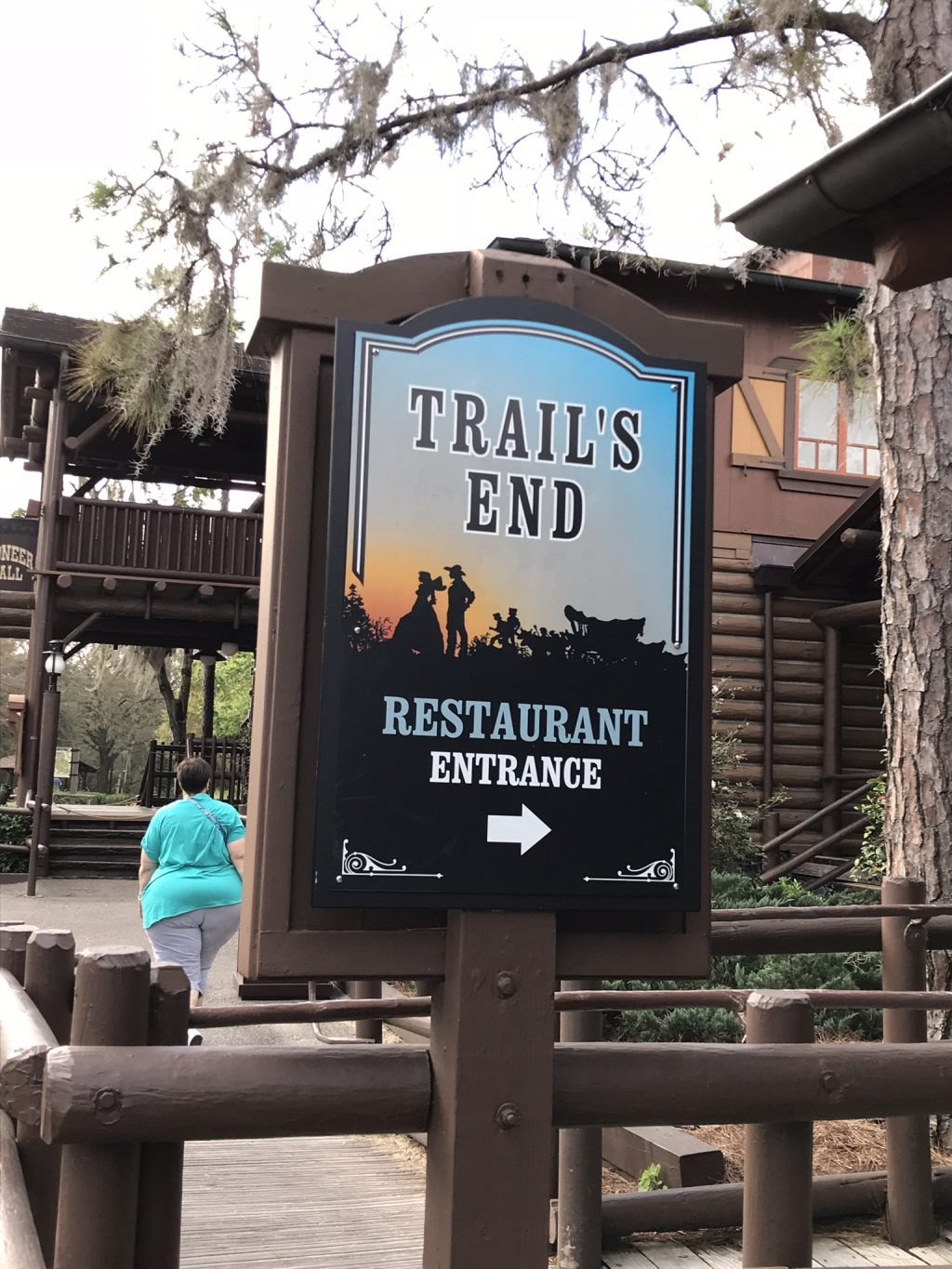 Trail's End Restaurant Entrance Sign