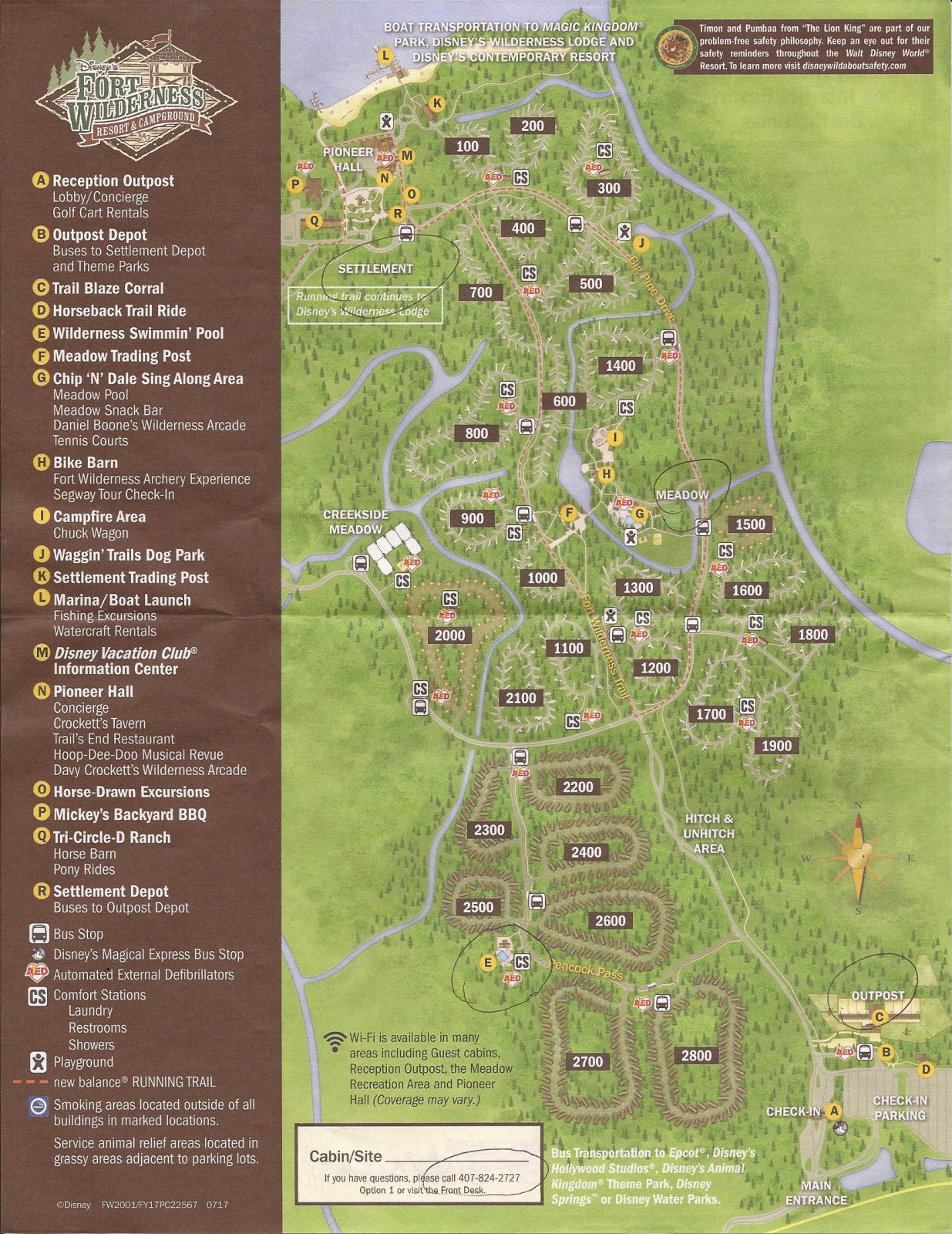 Fort Wilderness Campground Map
