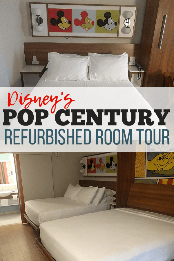 disney's pop century refurbished room tour pinterest image