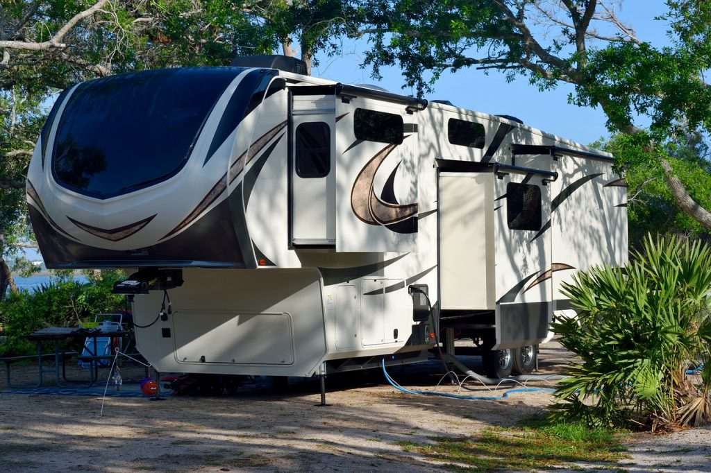 RV camper at Fort Wilderness Campground