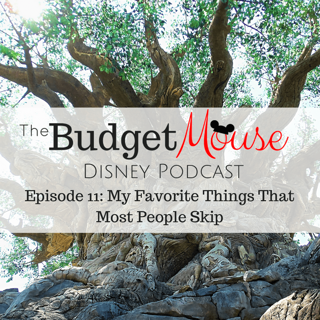 budget mouse podcast image with tree in the background