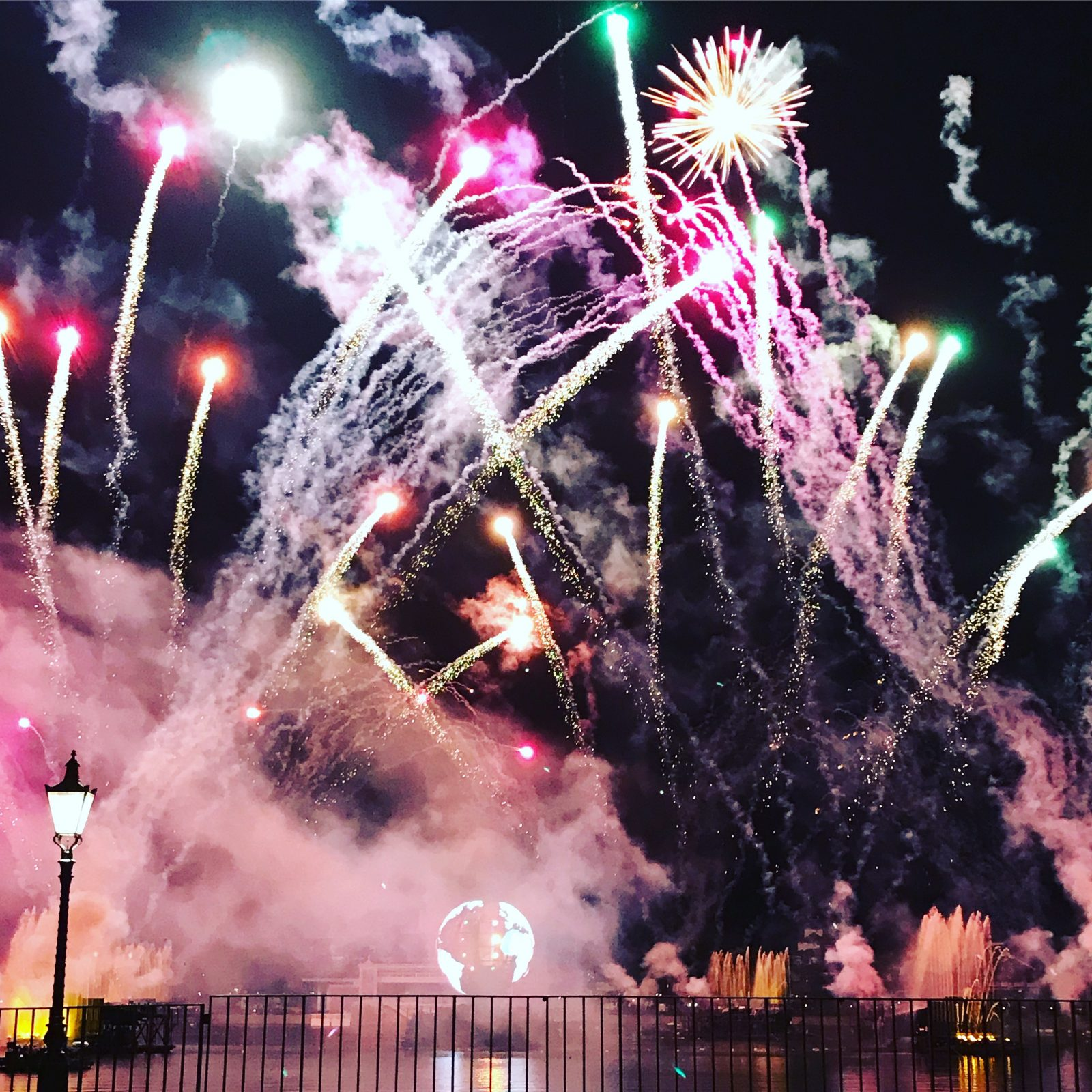 fireworks at night in epcot