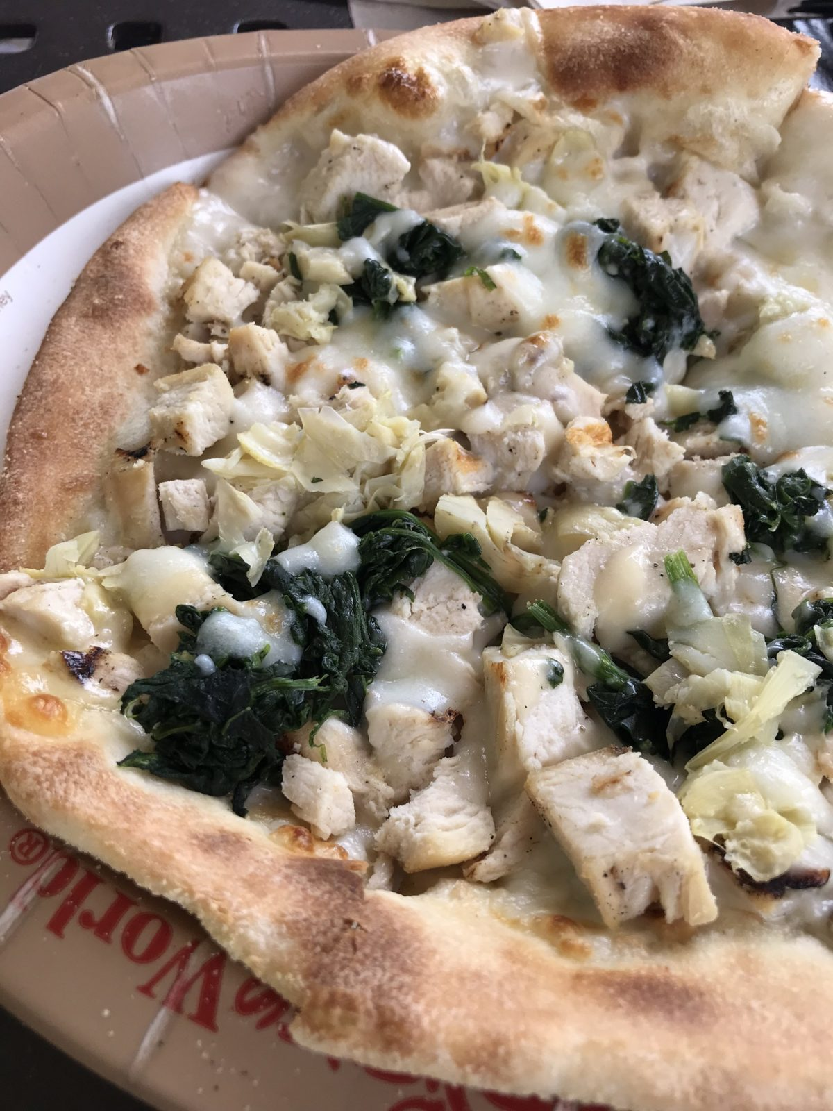 Chicken, Spinach & Artichoke Thin Crust Pie