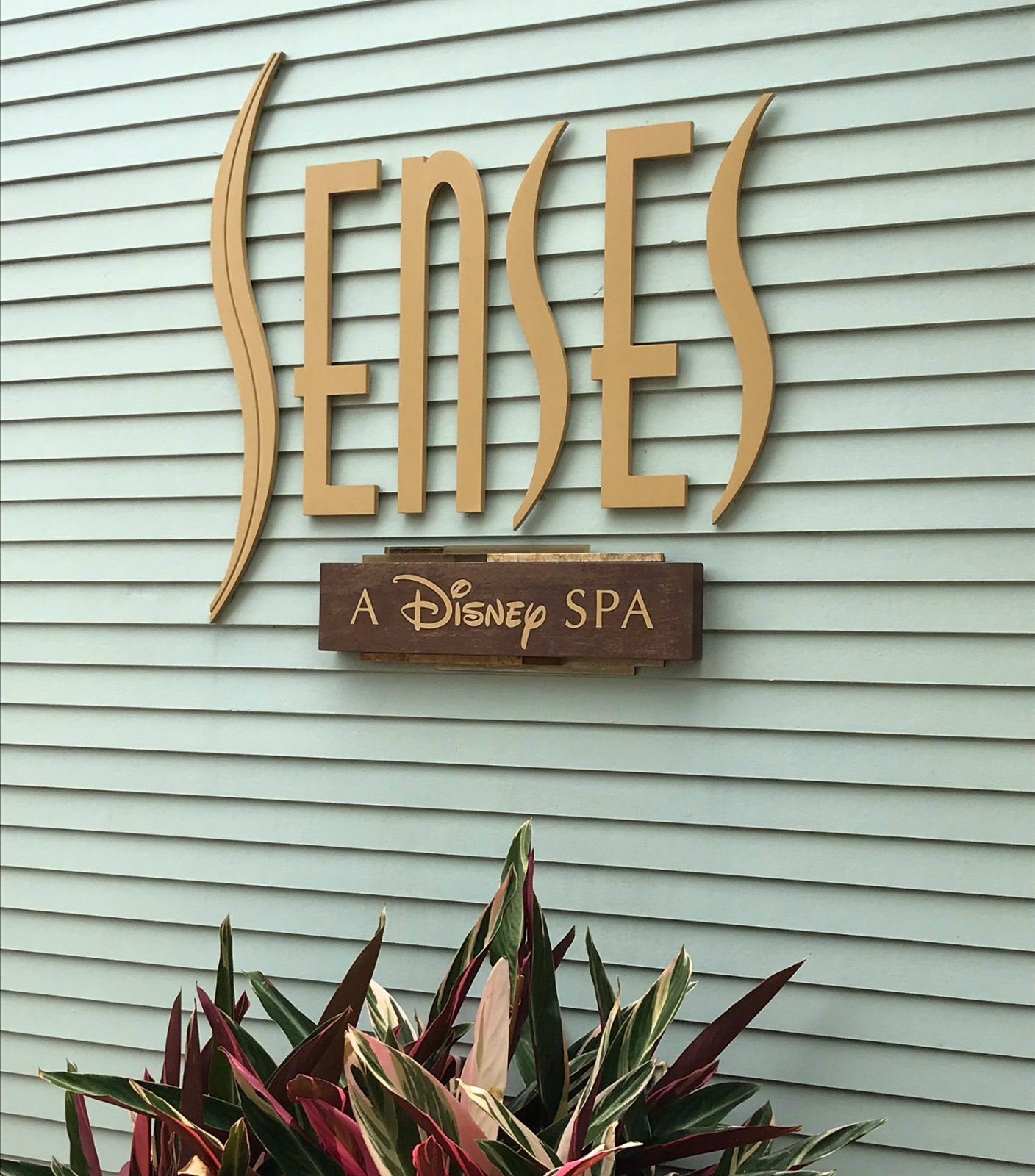 Senses disney spa sign
