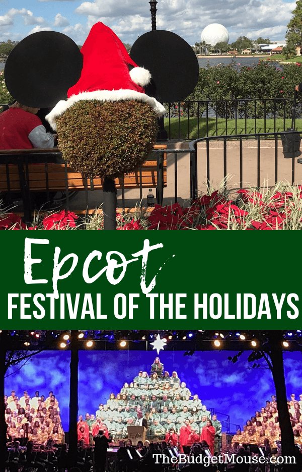 Everything you need to know about the Epcot International Festival of the Holidays! Food, music, Candlelight Processional, and more.. Disney World planning tips, tricks, hacks, and more. #disneyworld #traveltips