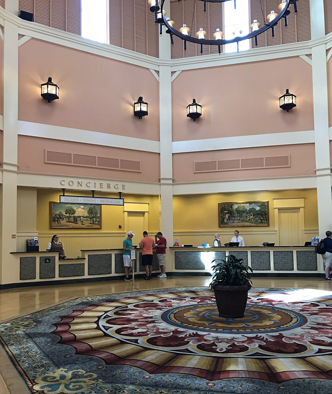 lobby concierge area