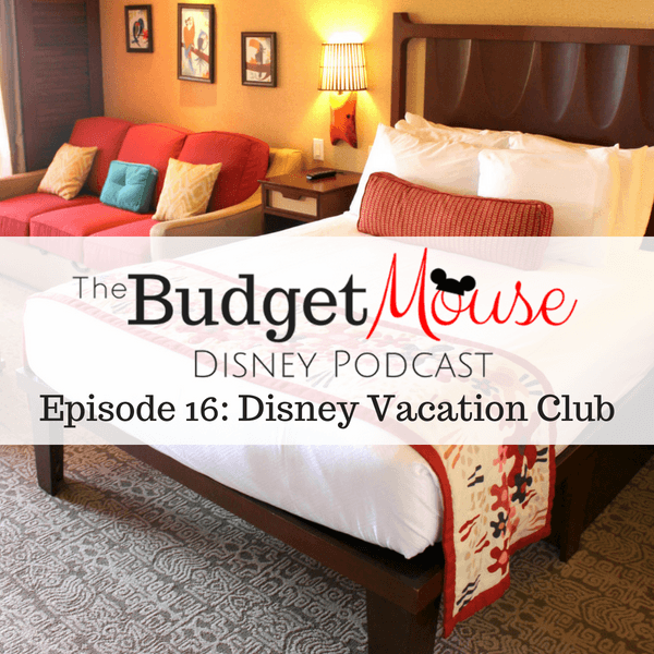 budget mouse podcast image with disney resort room