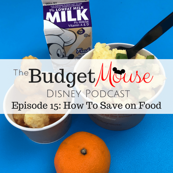 budget mouse podcast image with breakfast from woody's lunch box