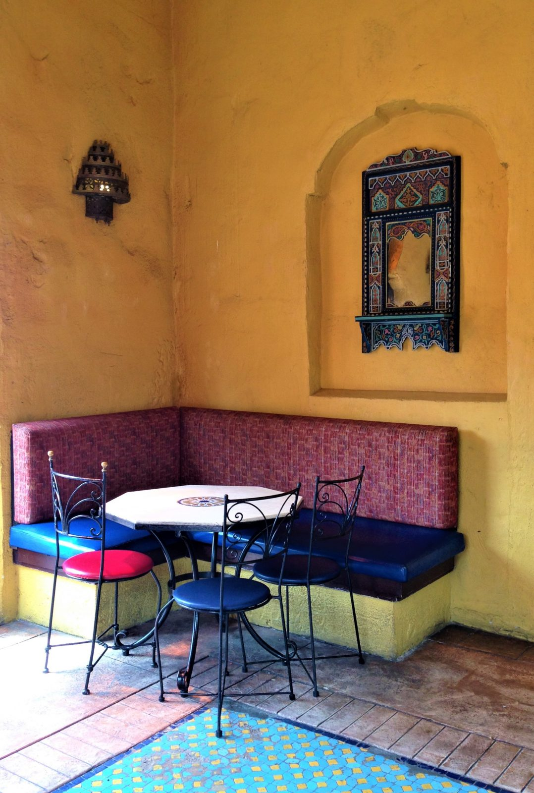 table in Tangierine Cafe in Epcot