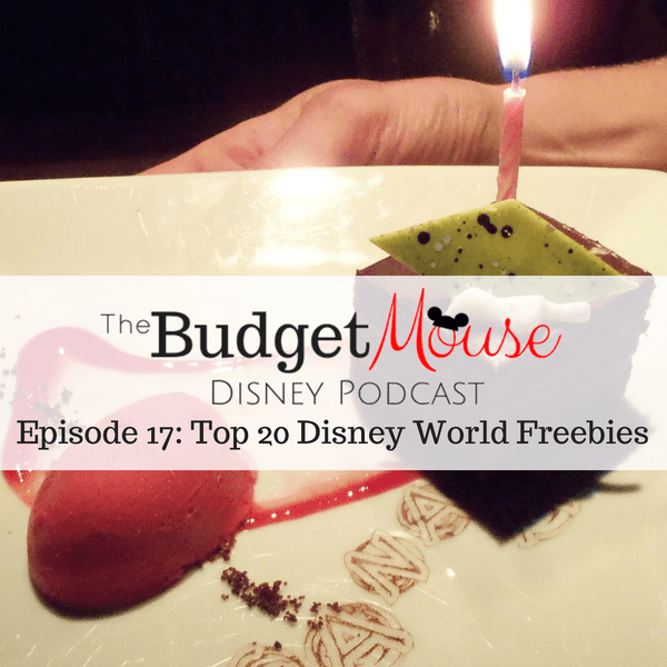 budget mouse podcast image of gourmet birthday dessert
