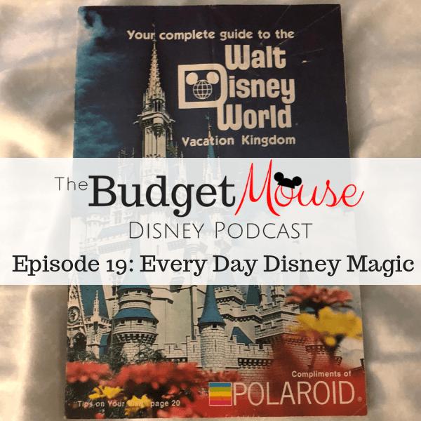 budget mouse podcast image of walt disney world brochure