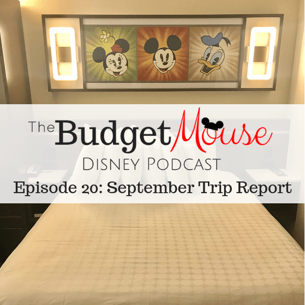 budget mouse podcast image of mickey mouse themed resort room