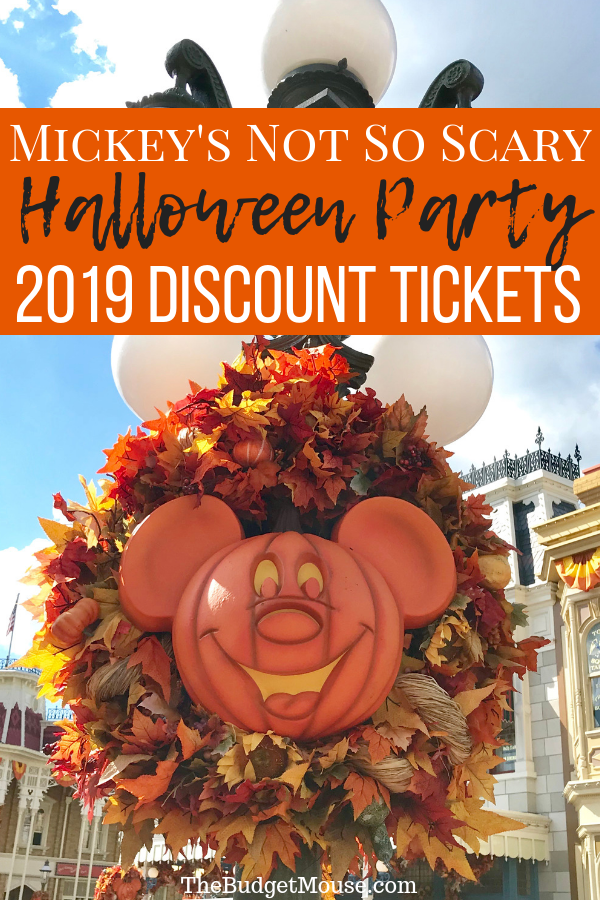 How to get your 2019 discount tickets to Mickey's Not So Scary Halloween Party! Tickets are already on sale for 2019 party dates - how to find the cheapest dates plus tips, tricks, and advice for having the best possible time at the party. #disneyhalloweenparty #mickeysnotsoscaryhalloweenparty #magickingdomhalloweenparty #2019disneyhalloweenparty #disneyworldhalloween