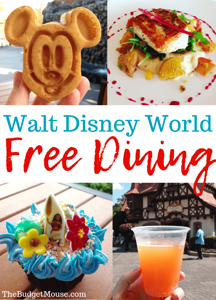 walt disney world free dining pinterest image