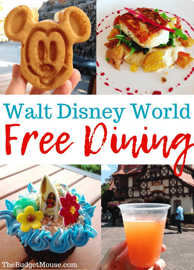 walt disney world free dining pinterest image