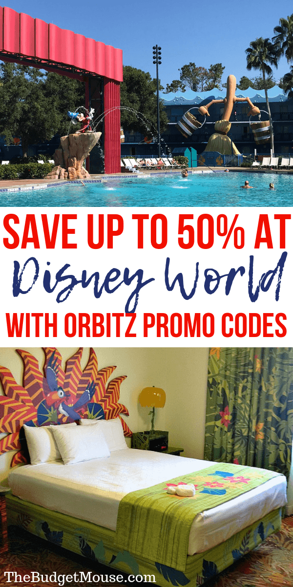 save up to 50% at disney world with orbitz promo codes pinterest image
