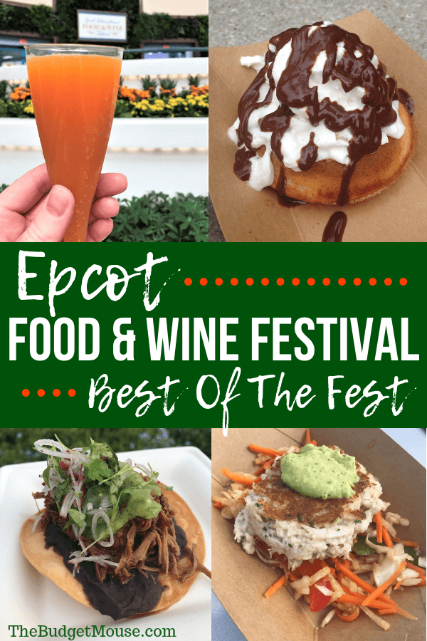 epcot food and wine festival best of the fest pinterest image