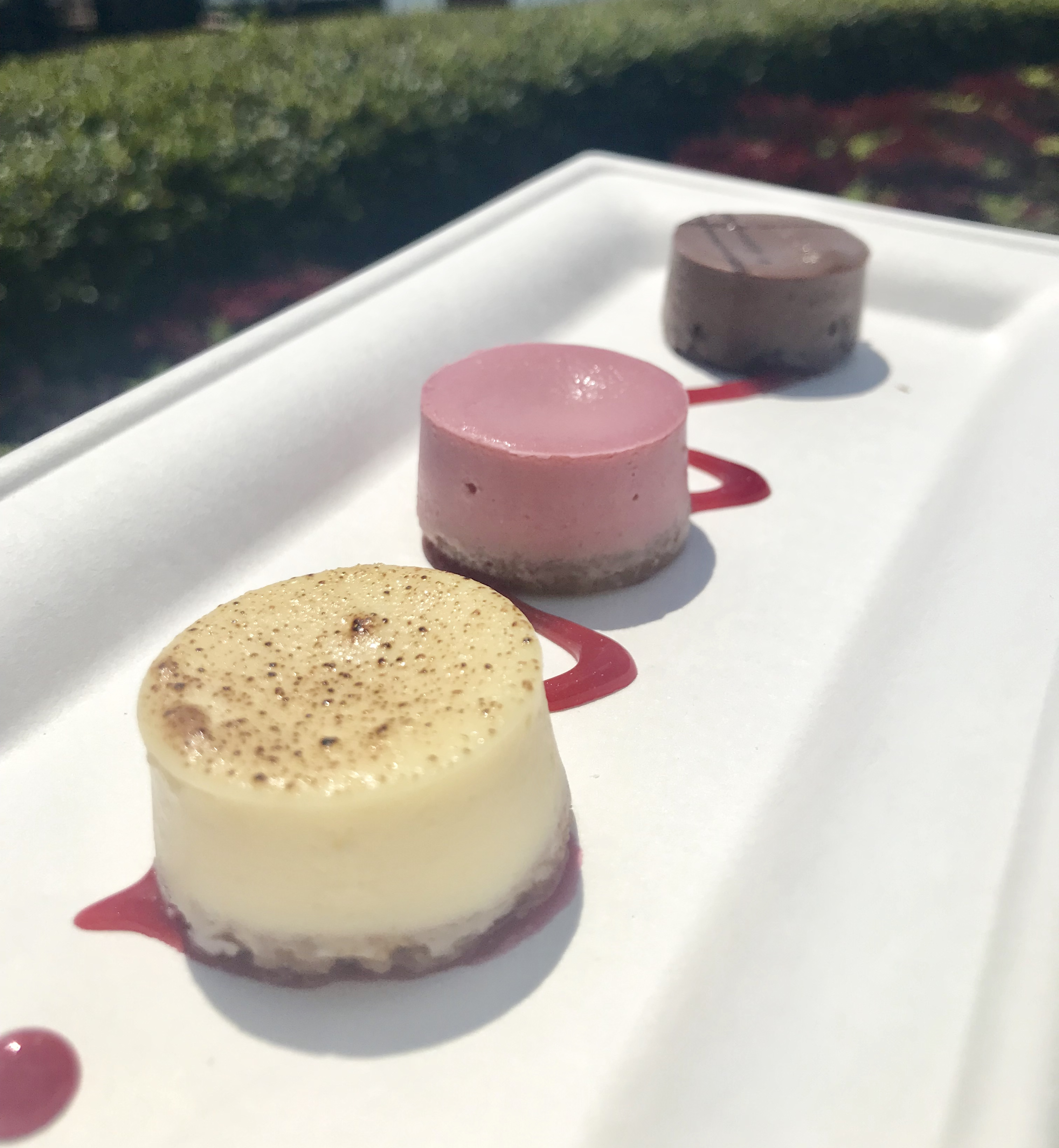 cheesecake trio at epcot food and wine festival