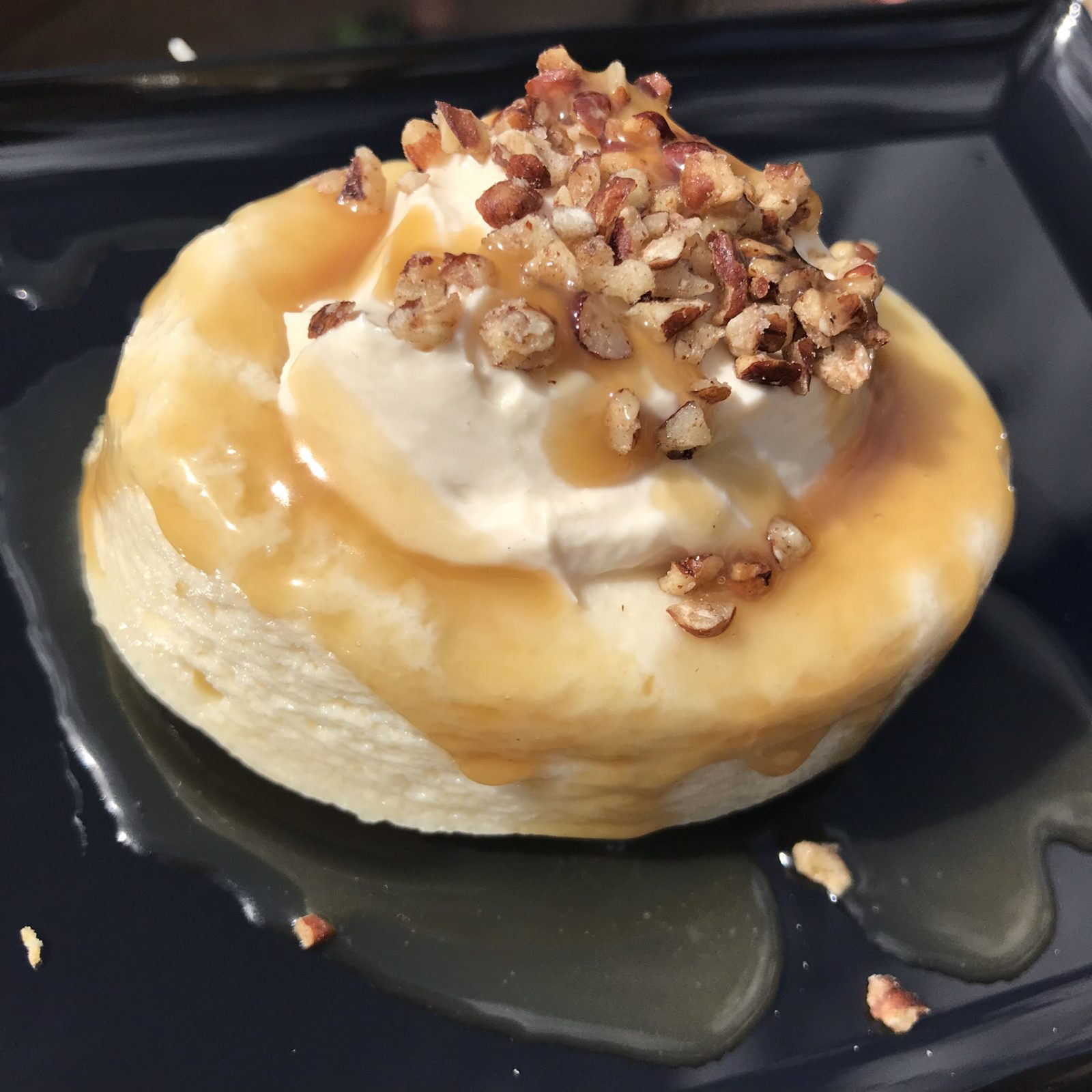 Maple Bourbon Boursin Cheesecake with Caramel and Pecan Crunch from epcot food and wine festival