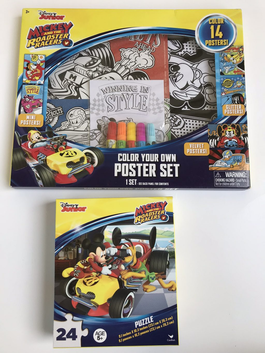 mickey roadster racers colorin set and puzzle