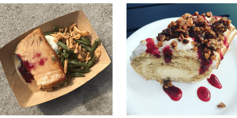 food from food booths at epcot