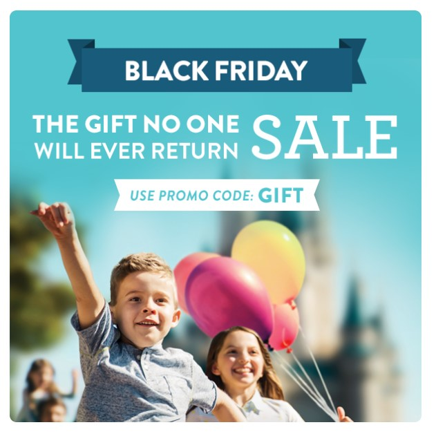 image of a black friday disney discount with promo code