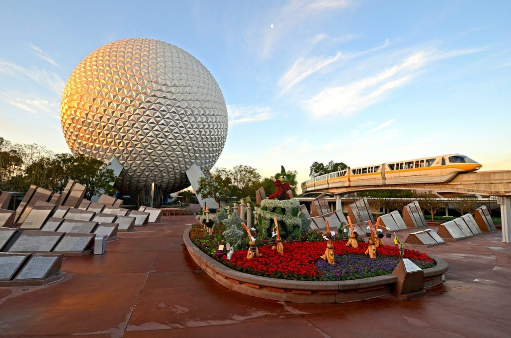 The Spaceship Earth geosphere and monorail