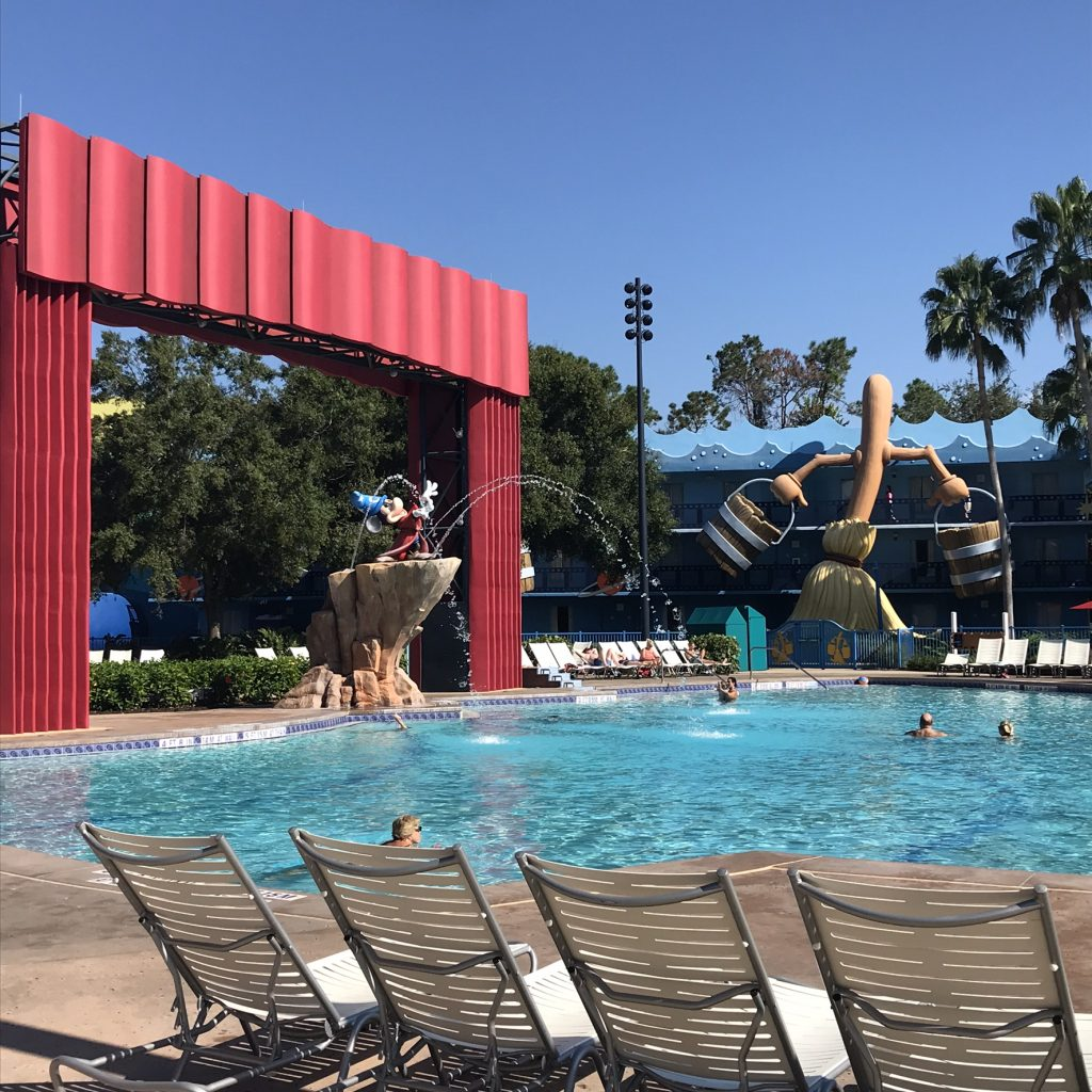 Pool area at Disney's All-Star Movies Resort
