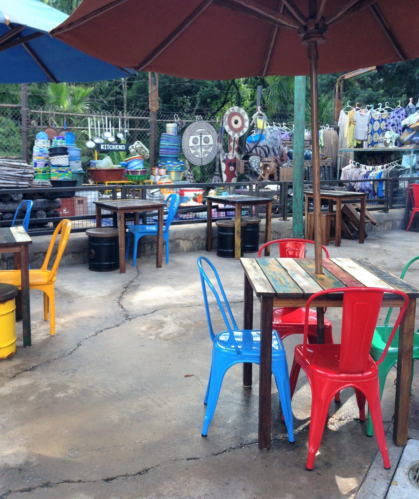 seating at harambe market