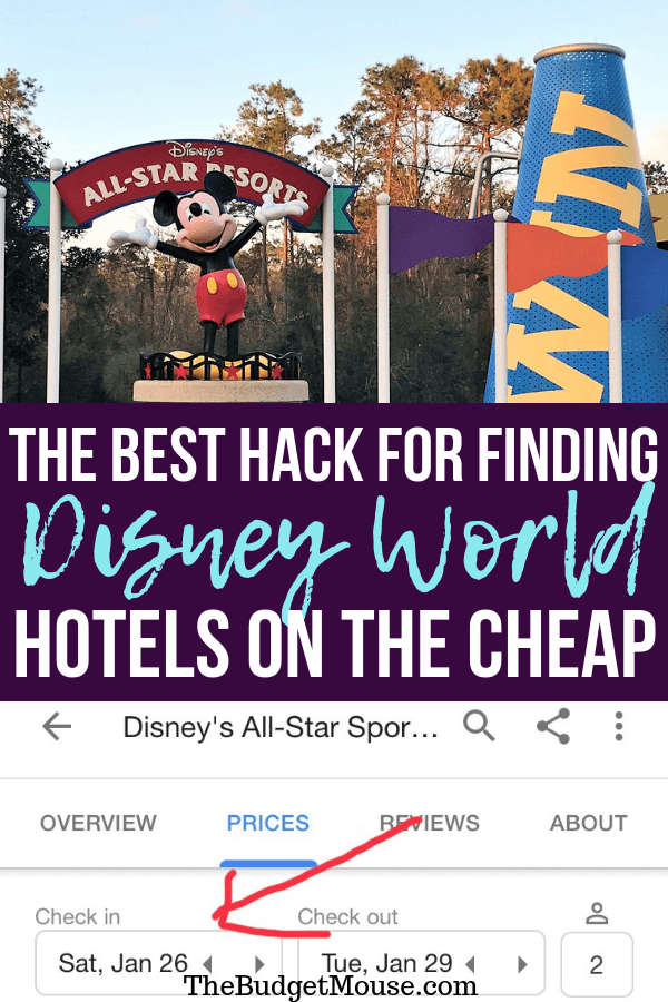 The best hack for finding cheap Disney World hotels! How to use the calendar feature on mobile search to check availability at Disney World hotels and find the cheapest nights to stay. #disneyworld #disneyworldhack #disneyhack #disneyworldonabudget #cheapdisneyhotel #disneyworldhotels