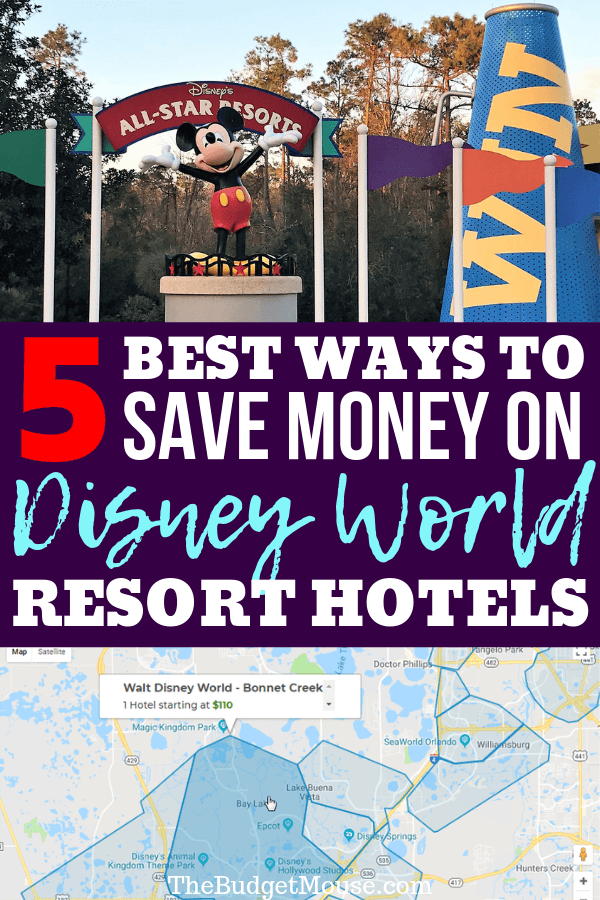 The 5 BEST ways to save money on Disney World resorts all rounded up in one post. Learn the best hacks and tricks for saving money at Disney World on-property resort hotels! Staying at a Disney resort doesn't have to cost a fortune. #disneyworldhacks #disneyworldonabudget #disneyworldtips #disneyresorts #disneyworldhotels #disneyonproperty #disneyworldonproperty