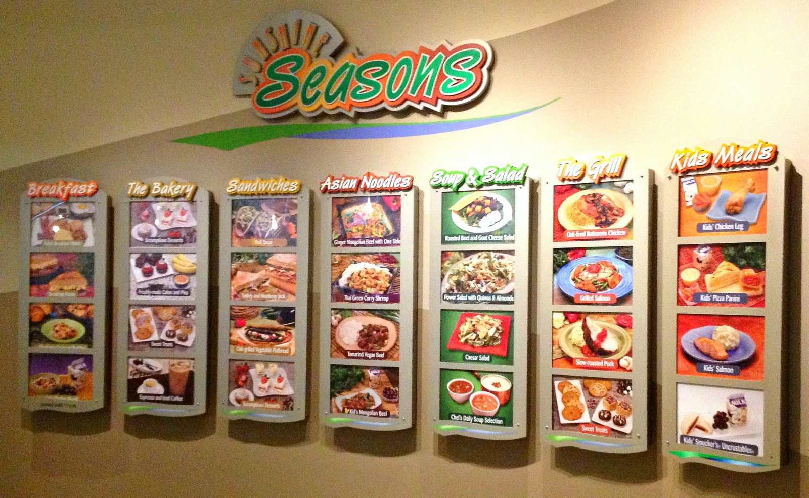 Seasons menu wall