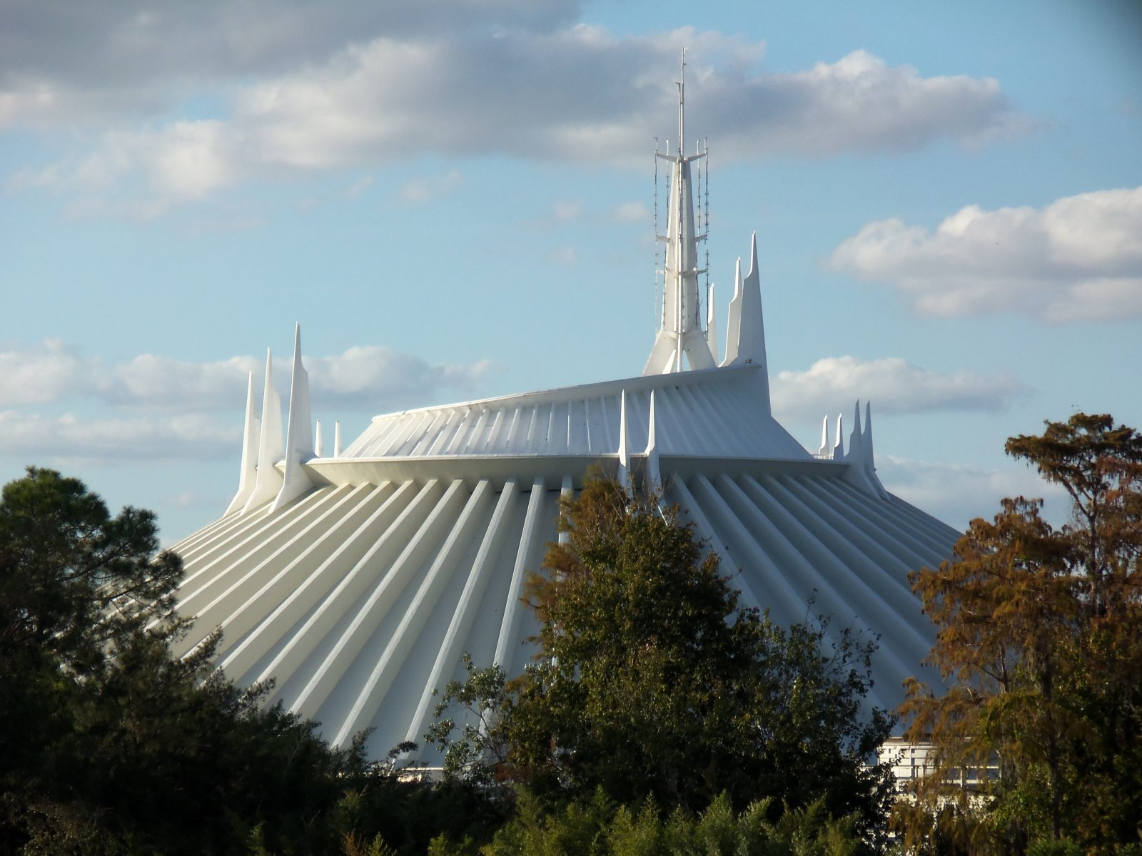 exterior of space mountain building
