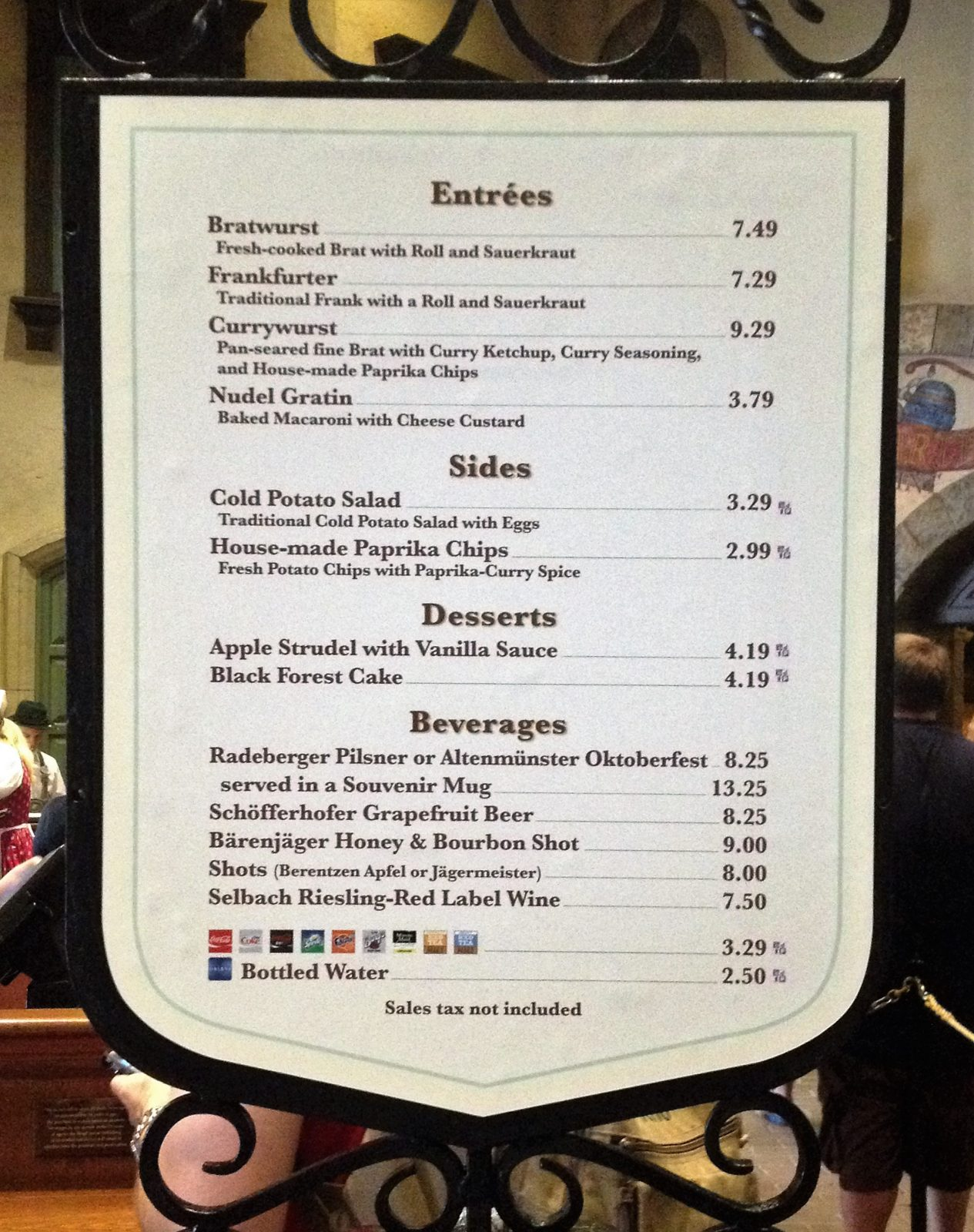 best quick service epcot - sommerfest menu