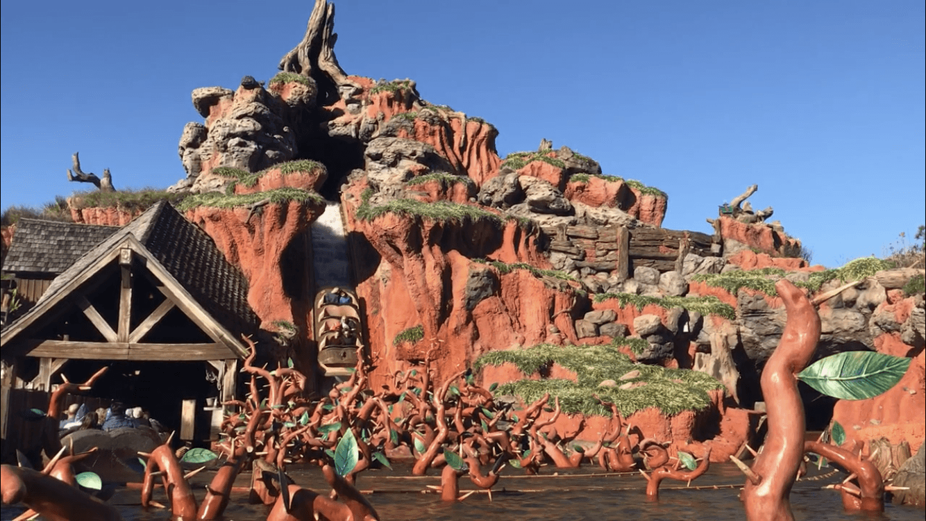 exterior splash mountain ride