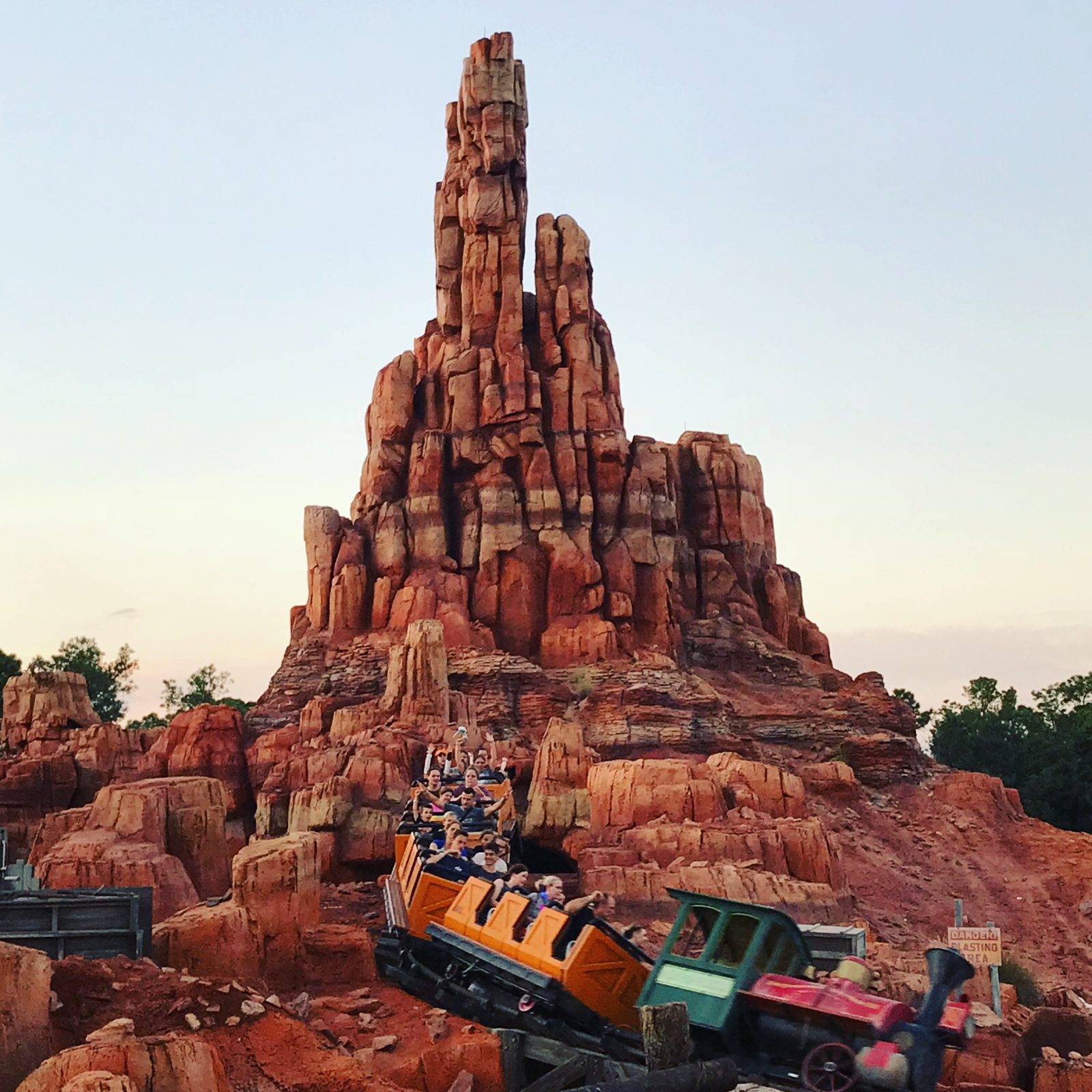 train on big thunder mountain railroad in magic kingdom