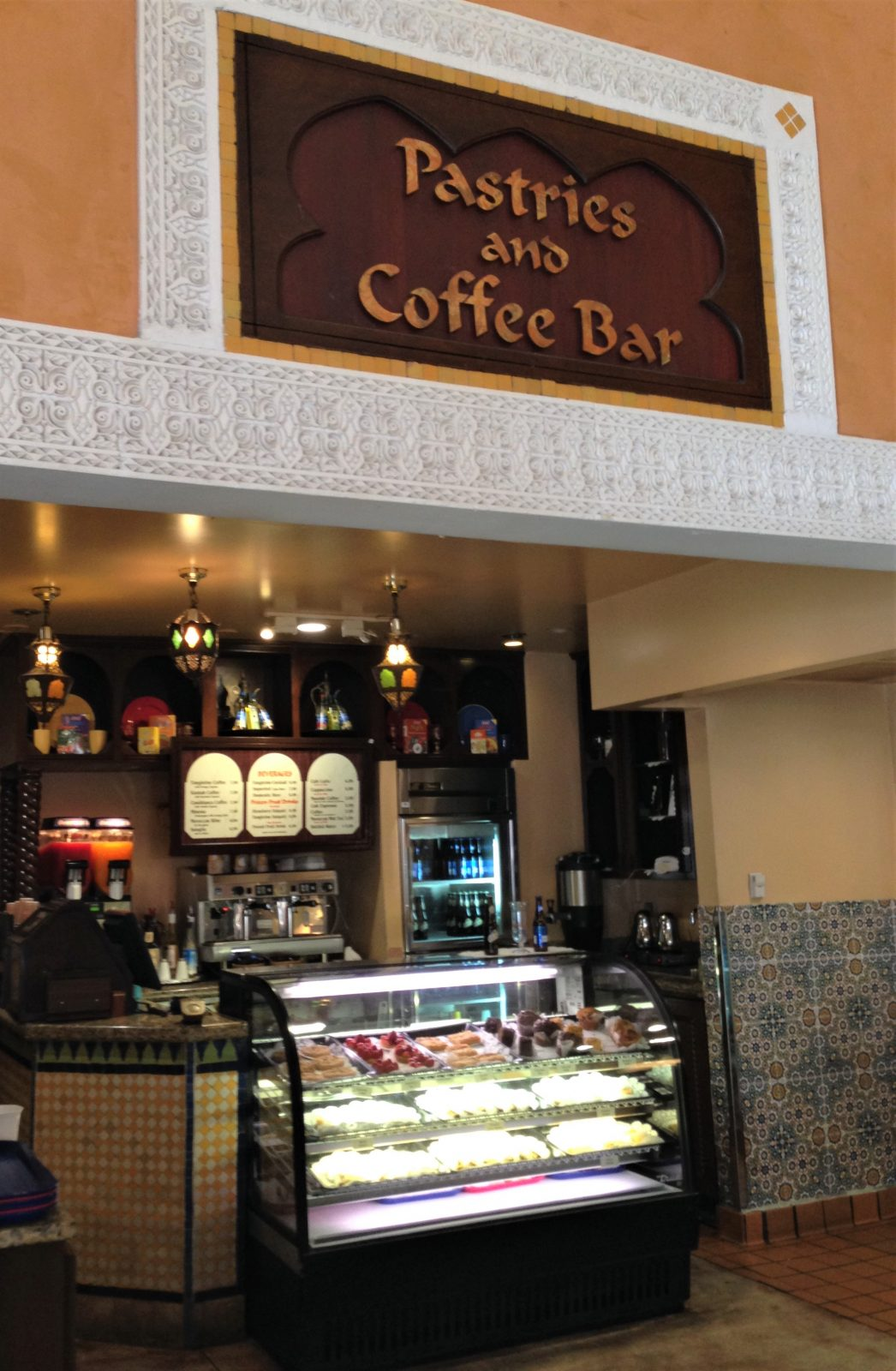 pastries and coffee bar