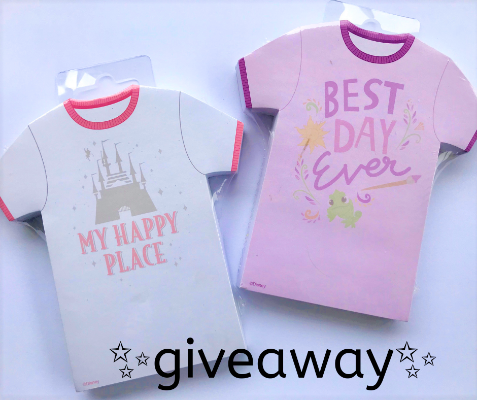 Disney World T-Shirt Notepads Giveaway! - The Budget Mouse