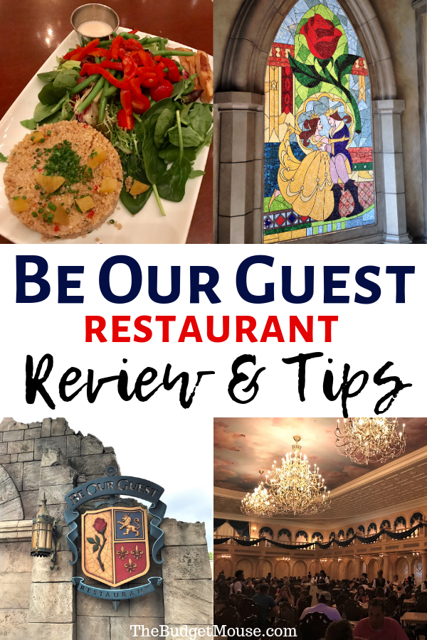 Learn everything you need to know about the popular Be Our Guest Restaurant in Magic Kingdom! Get tips for this popular quick service dining location plus details on the dining rooms, menus, dining plan, preorder your meal, and more! Disney dining tips and tricks plus how to do Disney World on a budget. #beourguest #disneydining #magickingdom #disneyworldonabudget